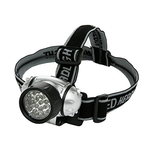 Designers Edge L1240 Battery Operated 21-LED Lycra Headband Light,