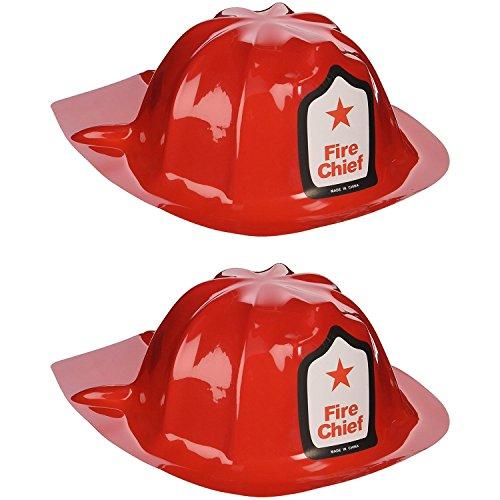 Rhode Island Novelty Plastic Firefighter Chief Hat (Set of 24) by Rhode Island Novelty
