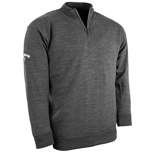 Griffin Embroidery - 2014 Callaway WindStopper Lined Merino 1/4 Zip Golf Sweater Griffin Grey Medium