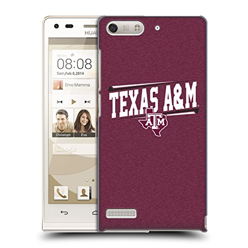 Official Texas A&M University TAMU Double Bar Hard Back Case for Huawei Ascend G6