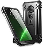 Moto G7 Rugged Case with Kickstand, Poetic Full-Body Dual-Layer Shockproof Protective Cover, Built-in-Screen