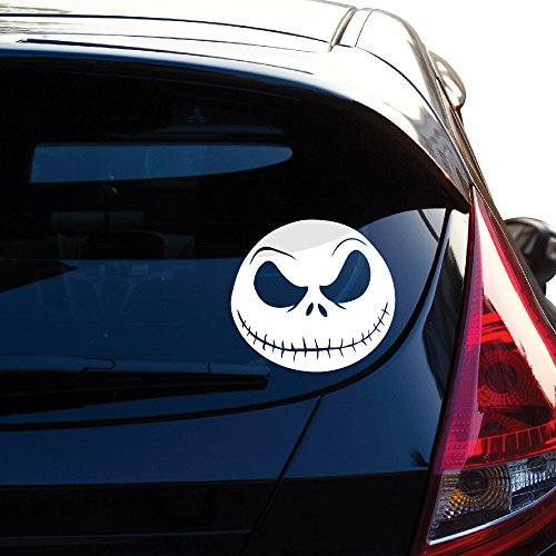 Jack Skellington From Nightmare Before Christmas Decal Sticker for Car Window, Laptop, Motorcycle, Walls, Mirror and More. Sku: 488 (4