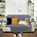 Utopia Bedding Waterproof Sofa Cover with Adjustable Elastic Straps – Non Slip Furniture Protector for Pets (2 Seater…