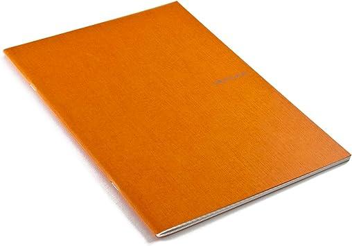 Fabriano A4 Squared Stapled Notebook Arancio Orange