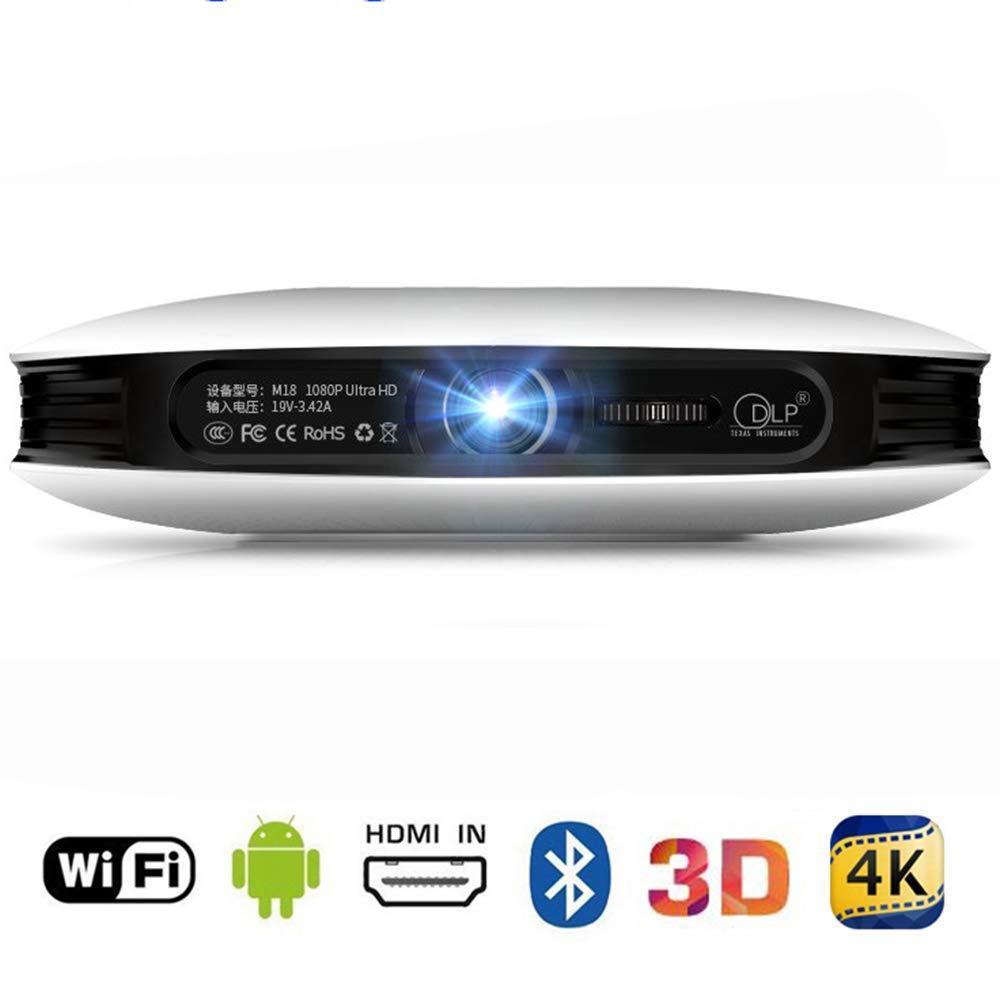 Mengen88 Proyector WiFi de 2.4G, 1080p 3D 4K DLP Proyector de ...