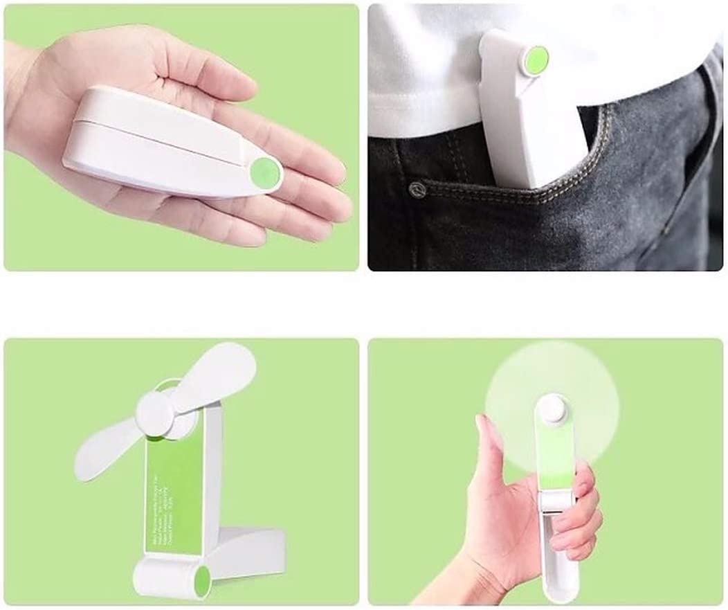 BBFZ 1pcs USB Mini Portable Portable Small Silent Handheld Fan Green,3cm10cm4.3cm
