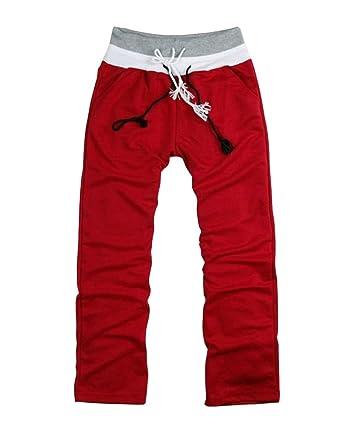 A la Reina mode--Pantalón de chándal para hombre rojo large ...
