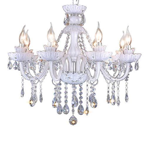 Araña De Cristal Vaso Luces Colgantes Vela Lámparas De Araña Salón ...
