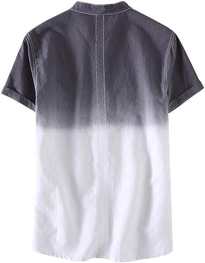 Amazon.com: Camisas de algodón de manga corta para hombre ...
