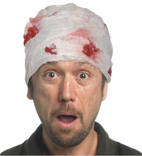 Bloody Head Bandage by Sunstar Gifts ()