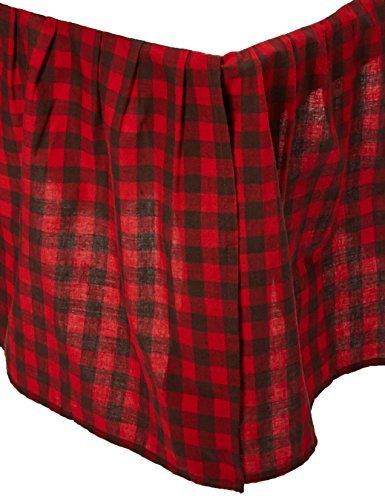 C&F Home Buffalo Checks King Bed Skirt, 78 by 80-Inch [並行輸入品] B07GD8PTYJ
