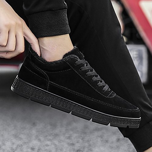 EU39 CN39 DIMAOLV Mens Shoes Leatherette Winter Fall Fluff Lining Comfort Sneakers Running Shoes for Athletic Casual Black Gray,Gray,US7 UK6