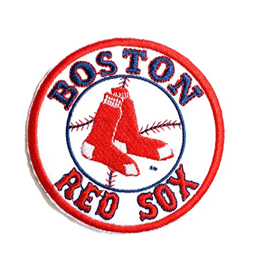 InspireMe Family Owned Red Sox Baseball Fully Embroidered Iron On Patch 3.5