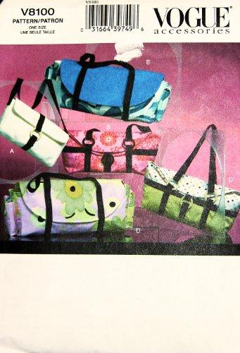 Vogue 8100 Handbags Sewing Pattern - Studded Lined Belt