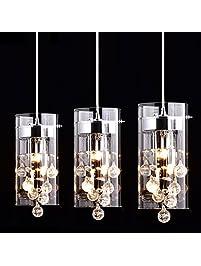 CLAXY Ecopower Lighting Glass U0026 Crystal Pendant.