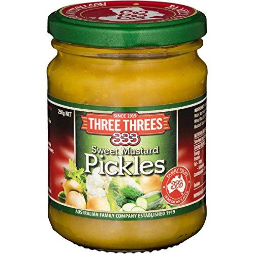 Three Three Sweet Mustard Pickles 250g