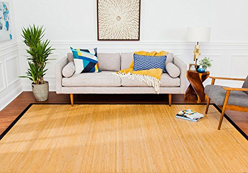 -by-10-Foot Natural Fiber Rug, Contemporary Natural (Bamboo Natural Hardwood Flooring)
