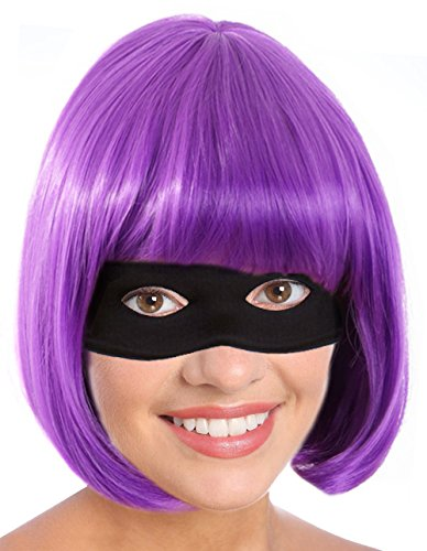Kick-Ass Costume Hit-Girl Costume Hit Girl Wig Hit Girl Costume Wig Purple Wig (Kickass Costumes)
