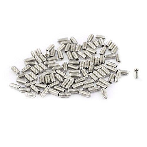 Tornillos eDealMax 100 piezas M2 x 4 mm de Acero inoxidable ...