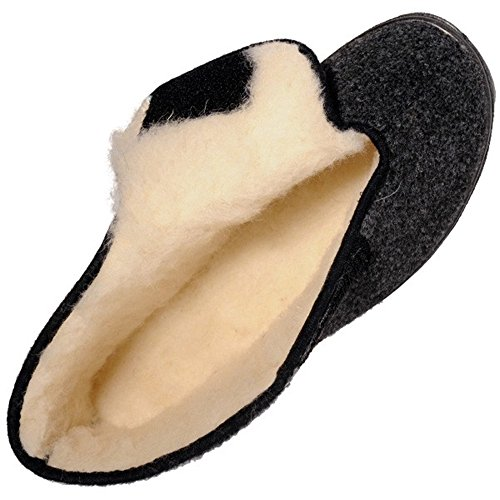 Mohair & Confort - Chaussons velcro homme sans gene