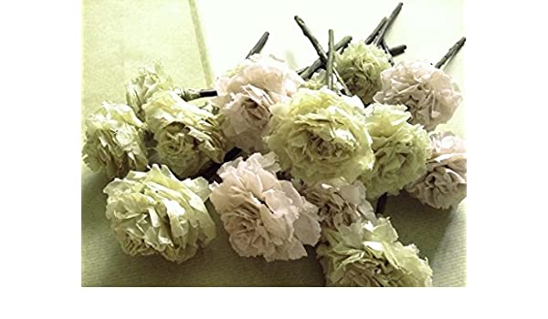 f96fafb386f1 Blush Celery Green Tissue Paper Pom Pom Flower Wooden Sticks Table Décor  Floral Centrepiece Paper Handmade Home Party Decorations InsideMyNest (Set  of 12)