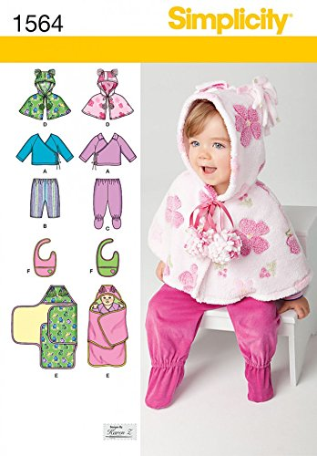 Simplicity Baby Toddlers Easy Sewing Pattern 1564 Poncho Top