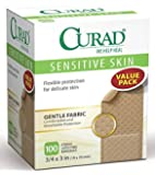 Curad Latex-free Bandages, Gente Fabric, 3/4 x 3 in., 100 count