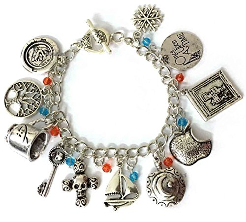 Once Upon a Time Charm Bracelet - Bracelets Jewelry Merchandise Gifts Collection Women Silver ()