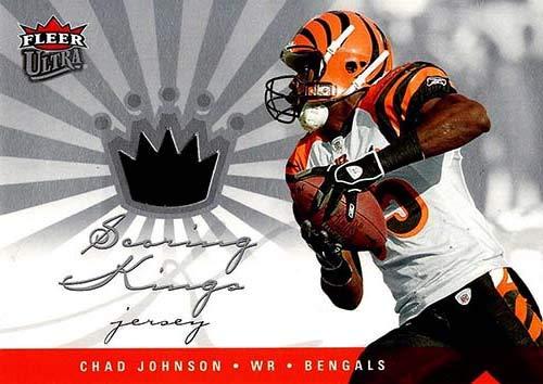 Chad Johnson Autographed Football - Signed Johnson, Chad (Cincinnati Bengals) Unsigned 2006 Fleer Ultra Football Jersey Insert Card. autographed