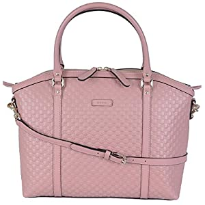 Gucci Women's Leather Micro GG Guccissima Crossbody Dome Purse (Soft Pink)