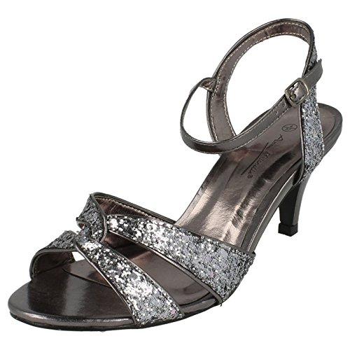 Pewter Michelle grey Soirée Paillettes Anne À Chaussures Pour De 0xdBS