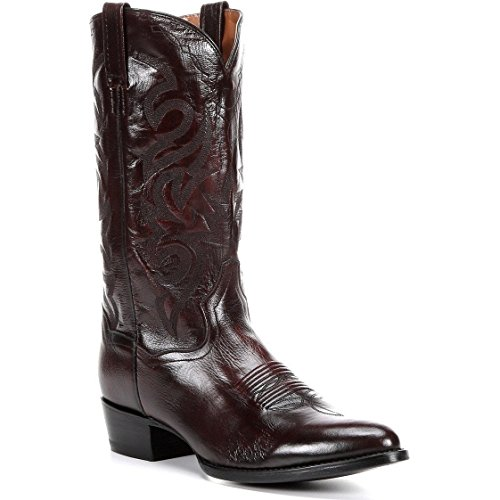 Men's Dan Post Milwaukee Genuine Leather Handmade Cowboy Boots Black Cherry