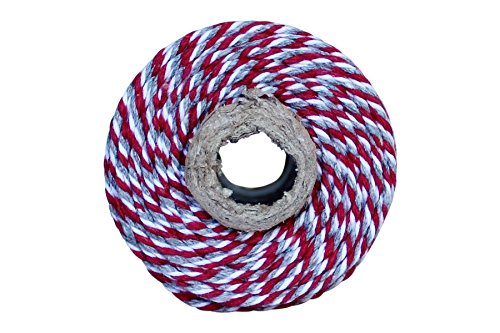 Thick 12 Ply 100 Yard Bakers Twine (Red and Grey)]()