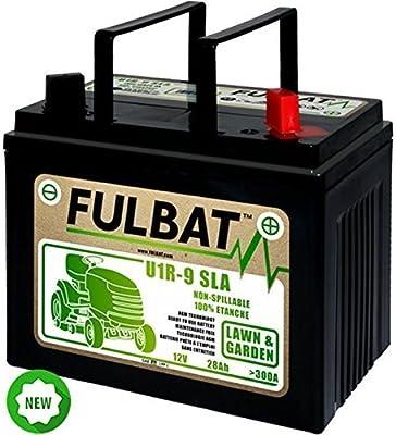 Batería tractor cortacésped 12 V 28 AH + derecha: Amazon.es ...