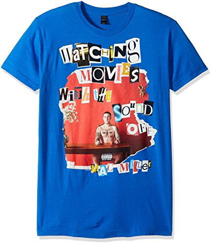 FEA Men's Mac Miller Ransom Letters Soft T-Shirt, Blue, - Miller Mac Apparel