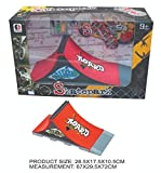 Die-cast Mini Deck Skatepark Platform + Mini Skateboard or Mini Bike Finger Bicycle Board (STYLE A + SKATEBOARD)