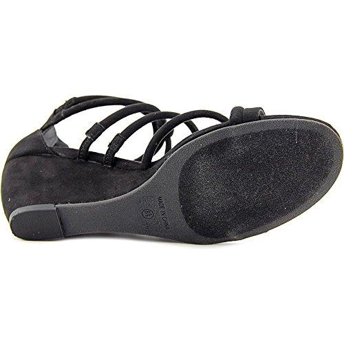 American Rag Frauen Calla Offener Zeh Leger Sandalen mit Keilabsatz Black