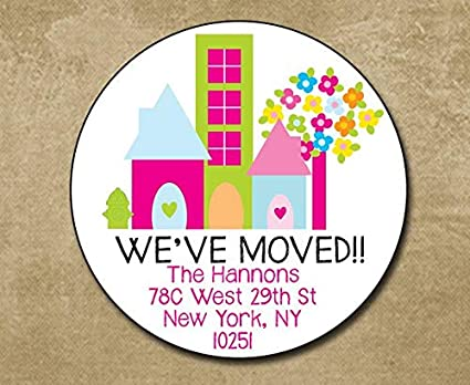 amazon com weve moved round address label address stickers new