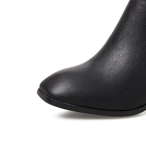 Balamasa Kvinners Glidelås Maljer Chunky Hæler Uretan Boots Black