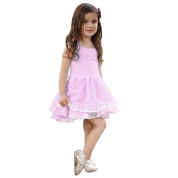 ❤ Vestidos Chica Verano, Niños Pequeños Bebé Vestidos de Princesa Vestidos de Fiesta de Encaje a Rayas Nudo Mariposa Absolute: Amazon.es: Ropa y ...