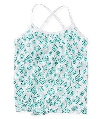 Aeropostale Girls Printed Waist Tie Tank Top 138 L - Printed Tie Waist Cami