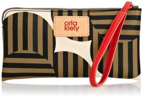 (Orla Kiely Optical Flower Print Flat Zip Purse, Turtoise)