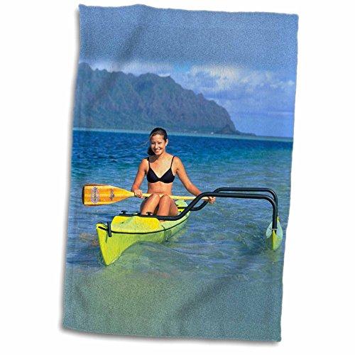 3dRose-Danita-Delimont-Boats-Outrigger-boat-Kaneohe-Bay-Kaneohe-Oahu-Hawaii-US12-DPB1613-Douglas-Peebles-Towel