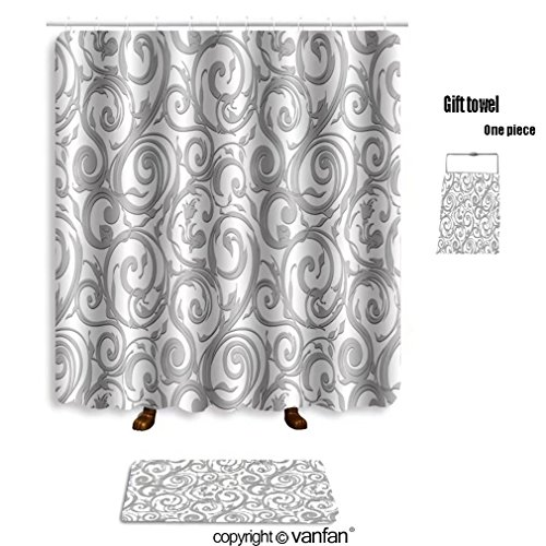 vanfan bath sets with Polyester rugs and shower curtain seamless wallpaper vector background 58345366 shower curtains sets bathroom 69 x 75 inches&31.5 x 19.7 inches(Free 1 towel and 12 - Outlet Toronto Designer