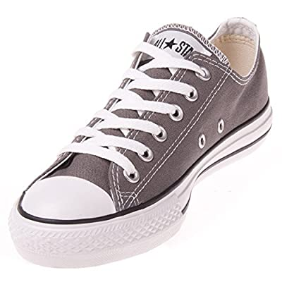 Converse Unisex Chuck Taylor All Star Ox Low Top Charcoal Sneakers - 6 Men 8 Women