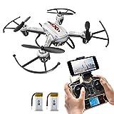 Potensic F186WH Hover RC Drone RTF Altitude Hold Mini Quadcopter UFO with 2MP WiFi Camera(White)
