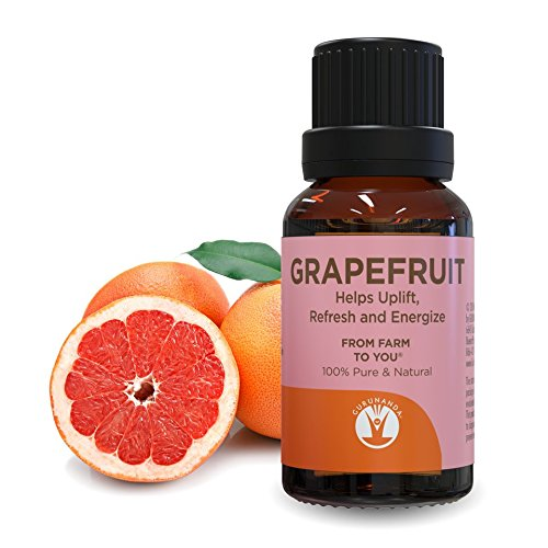 - GuruNanda Grapefruit Essential Oil - Aromatherapy - GCMS Tested & Verified 100% Pure Essential Oils - Undiluted - Therapeutic Grade -  15 ml