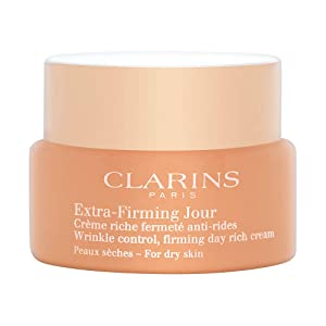 Clarins Extra-Firming Day Wrinkle Control Firming Rich Cream Dry Skin for Unisex, 1.7 Ounce