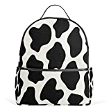 Use4 Animal Cow Print Polyester Backpack School Travel Bag For Sale