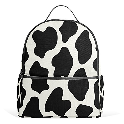 Use4 Animal Cow Print Polyester Backpack School Travel Bag